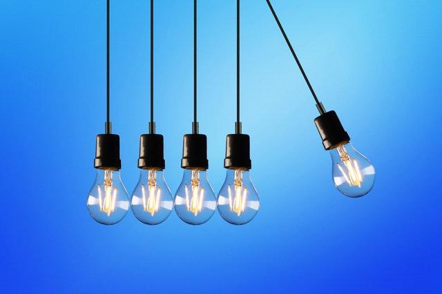 energie, elektřina, žárovky