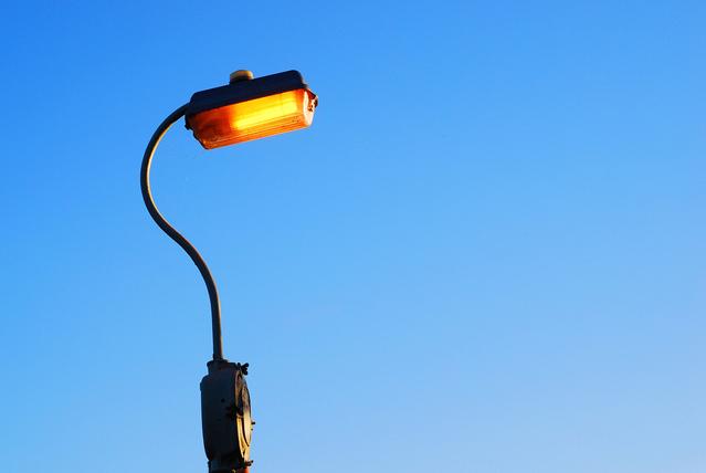 vysokotlaká sodíková výbojka v lampě